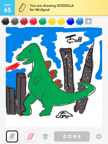 Drawsomething Godzilla