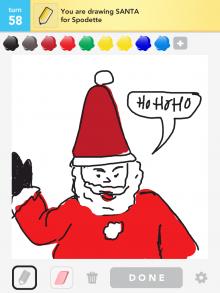 Drawsomething Santa