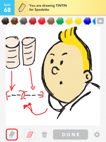 Drawsomething Tintin