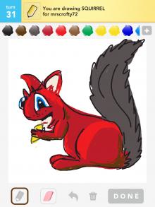 Drawsomething Squirrel