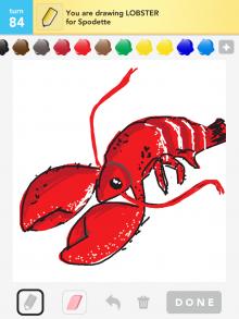 Drawsomething Lobster