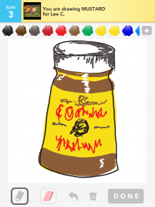 Drawsomething Mustard