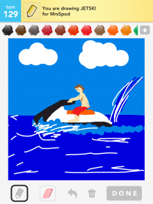Drawsomething Jetski