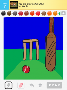 Drawsomething Cricket