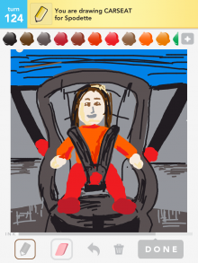 Drawsomething Carseat