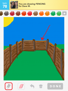 Drawsomething Fencing