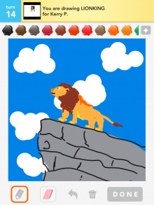 Drawsomething Lionking