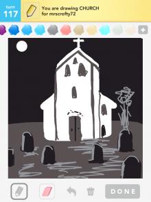 Drawsomething Church