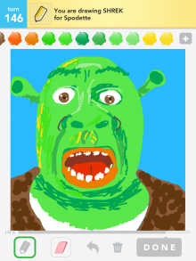 Drawsomething Shrek