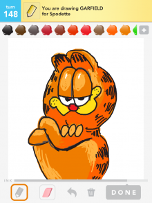Drawsomething Garfield