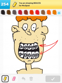 Drawsomething Braces