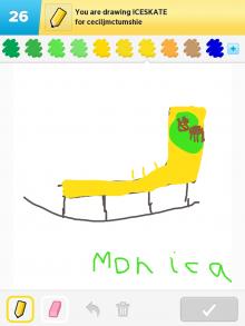 Drawsomething Iceskate (by Monica)