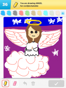 Drawsomething Angel (by Monica)