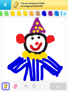 Drawsomething Clown (by Monica)