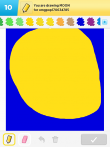 DrawSomething Moon (by Monica)