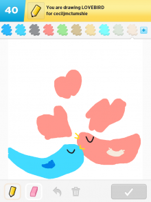 DrawSomething Lovebird (by Monica)
