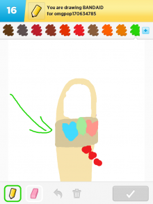 Drawsomething Bandaid (by Monica)